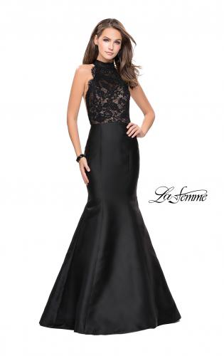 Picture of: Mermaid dress with sheer sides and open back, Style: 24778, Main Picture