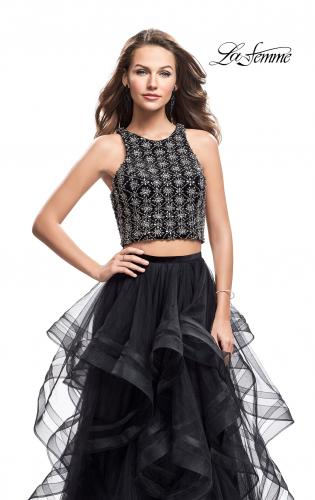 Picture of: Two Piece Ball Gown with Tulle Skirt and Beading, Style: 26233, Main Picture
