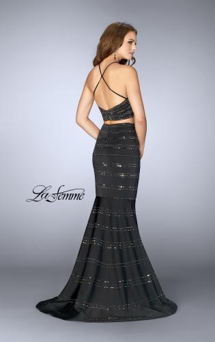 Picture of: Long Beaded Two Piece Mermaid Prom Dress, Style: 24810, Back Picture