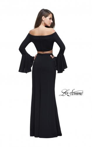 Picture of: Off the Shoulder Two Piece Dress with Flared Sleeves, Style: 25261, Back Picture
