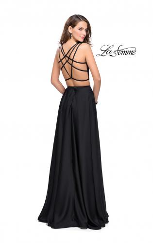 Picture of: Two Piece Prom Dress with Shorts and Strappy Back, Style: 25288, Back Picture