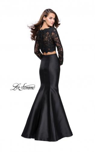 Picture of: Two Piece Mermaid Dress with Lace Top and Rhinestones, Style: 25324, Back Picture