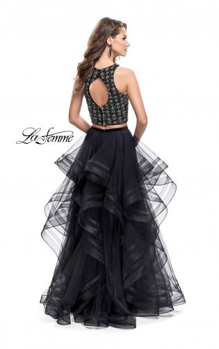 Picture of: Two Piece Ball Gown with Tulle Skirt and Beading, Style: 26233, Back Picture