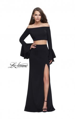 Picture of: Off the Shoulder Two Piece Dress with Flared Sleeves, Style: 25261, Detail Picture 1