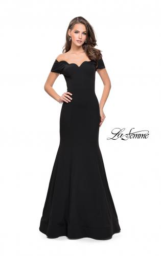 Picture of: Off the Shoulder Mermaid Style Dress with Scallop Neckline, Style: 25476, Detail Picture 1