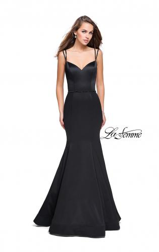 Picture of: Satin Mermaid Prom Dress with Beading and Open Back, Style: 25711, Detail Picture 1