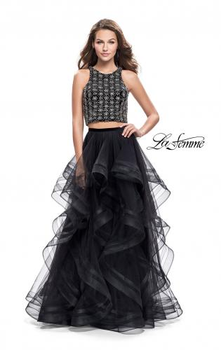 Picture of: Two Piece Ball Gown with Tulle Skirt and Beading, Style: 26233, Detail Picture 1