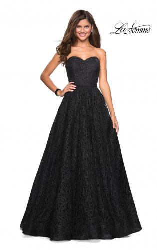 eedf8eea1549 ... Picture of: Strapless A Line Ball Gown with Metallic Embroidery, Style:  27063, ...