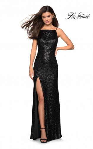 91cdebe47c4 ... Picture of  Sparkling Fully sequin Prom Gown with Exposed Back