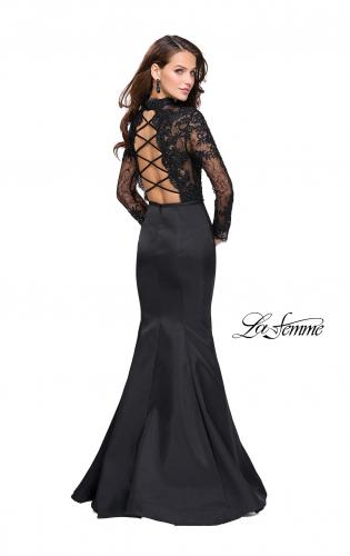 Picture of: Long sleeve Mermaid Mikado Prom Dress with Beading, Style: 25677, Detail Picture 2