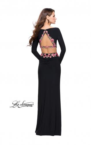Picture of: Long Sleeve Two Piece Dress with Floral Applique, Style: 25695, Detail Picture 2
