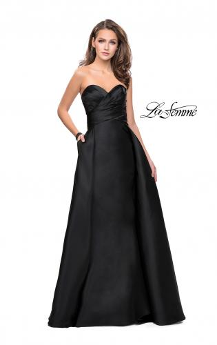 Picture of: Strapless A-line Prom Dress with Cape Skirt and Pockets, Style: 25738, Detail Picture 2