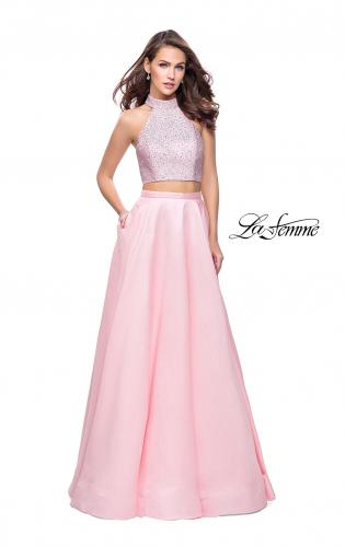Picture of: Mikado Two Piece A-line Dress with Metallic Beading, Style: 25705, Main Picture