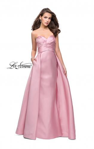 Picture of: Strapless A-line Prom Dress with Cape Skirt and Pockets, Style: 25738, Main Picture