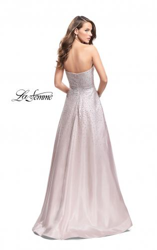 Picture of: Strapless Prom Gown with Sparkling Beading, Style: 26080, Back Picture