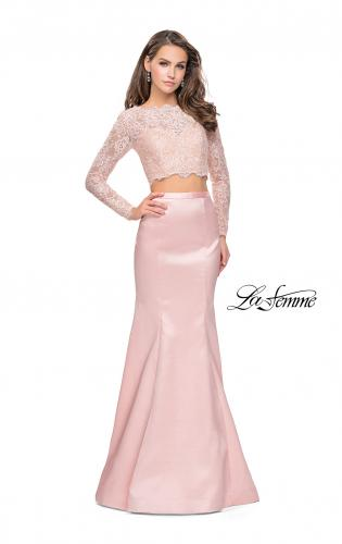 Picture of: Two Piece Mermaid Dress with Lace Top and Rhinestones, Style: 25324, Detail Picture 1