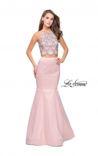 Picture of: Two Piece High Neck Prom Dress with Beading, Style: 26035, Detail Picture 1