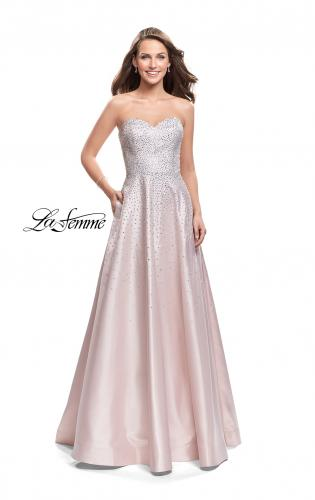 Picture of: Strapless Prom Gown with Sparkling Beading, Style: 26080, Detail Picture 1