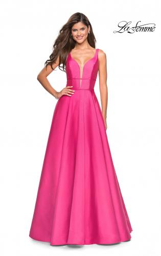 069a2a9f896 ... Detail Picture of  A Line Sweetheart Prom Dress with Pockets