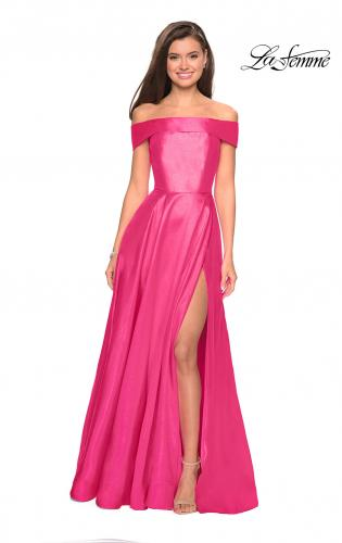 3c58afd8d45e ... Detail Picture of: Long Off The Shoulder Gown with Pockets, Style:  27005, Detail
