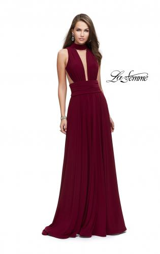 Picture of: A-line Prom Dress with Choker Neck Detail and Open Back, Style: 25568, Main Picture