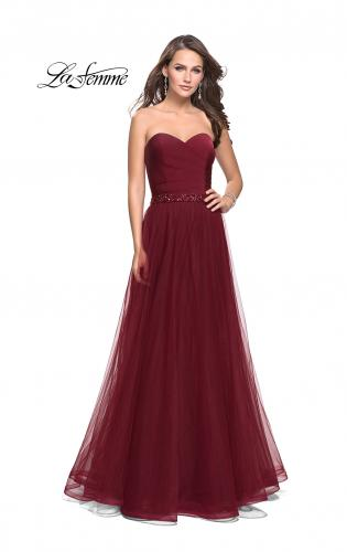 Picture of: Strapless A-line Ball Gown with Layered Tulle Skirt, Style: 25809, Main Picture