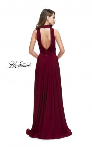 Picture of: A-line Prom Dress with Choker Neck Detail and Open Back, Style: 25568, Back Picture