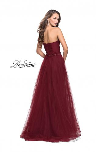 Picture of: Strapless A-line Ball Gown with Layered Tulle Skirt, Style: 25809, Back Picture