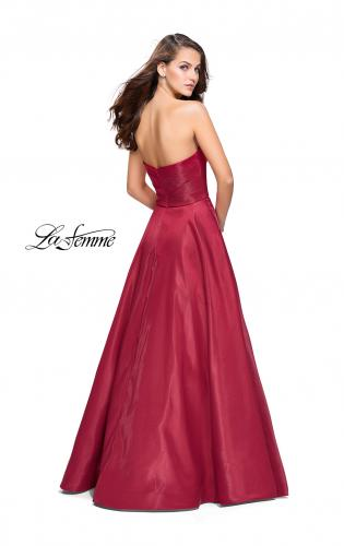 Picture of: Strapless Ball Gown with Wrapped Bodice and Pockets, Style: 25953, Back Picture