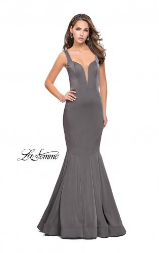 Picture of: Long Jersey Mermaid Prom Dress with Deep V, Style: 25485, Detail Picture 1