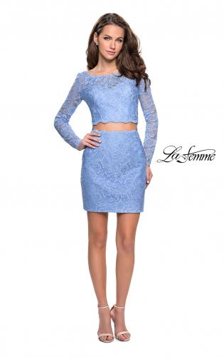 Picture of: Long Sleeve Two Piece Dress with Rhinestone Detail, Style: 26767, Detail Picture 2