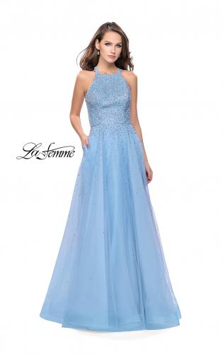 Picture of: High Neck Tulle A-line Prom Dress with Pockets, Style: 26250, Main Picture