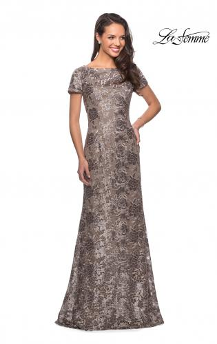 Grey Silver Lace Mother of Bride Dresses