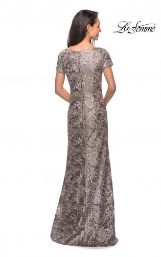 bf374df1016 ... Picture of  Floor Length Short Sleeve Lace Dress