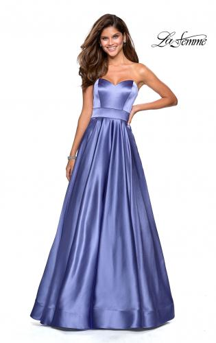 cdd03285bd0 Picture of  Strapless Metallic Prom Gown with Empire Waist