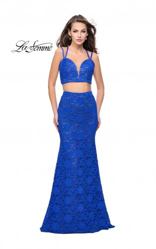 Picture of: Two Piece Mermaid Dress with Beading and Lace, Style: 25771, Detail Picture 2