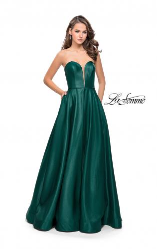 Picture of: Strapless Mikado A-line Gown with Pockets, Style: 26088, Detail Picture 2