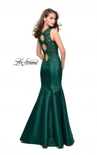 Picture of: Long Mikado Mermaid Gown with Lace Straps, Style: 25972, Detail Picture 2