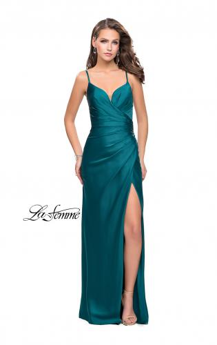 Picture of: Satin Slip Prom Dress with Strappy Back, Style: 25270, Main Picture