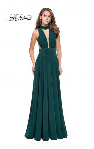 Picture of: A-line Prom Dress with Choker Neck Detail and Open Back, Style: 25568, Detail Picture 2