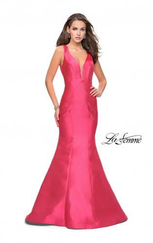 Picture of: Low Scoop Mermaid Prom Dress with Tiered Detail, Style: 26046, Detail Picture 1