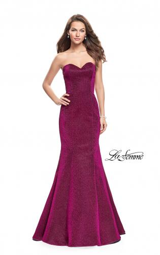 Picture of: Form Fitting Mermaid Prom Dress with Open Back, Style: 25811, Detail Picture 2