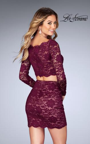 Picture of: Lace Two Piece Dress with Scalloped Neckline, Style: 25301, Back Picture