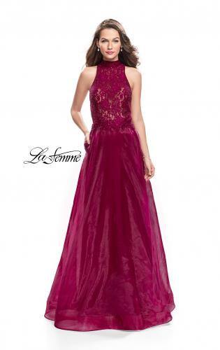 Picture of: A-line Prom Gown with Beaded Lace Bodice and Tulle, Style: 25664, Main Picture