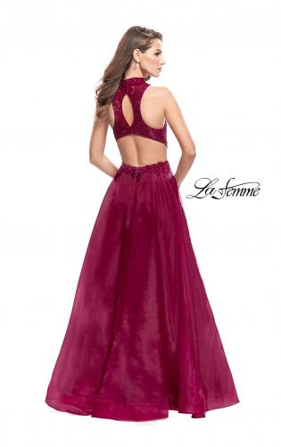 Picture of: A-line Prom Gown with Beaded Lace Bodice and Tulle, Style: 25664, Back Picture