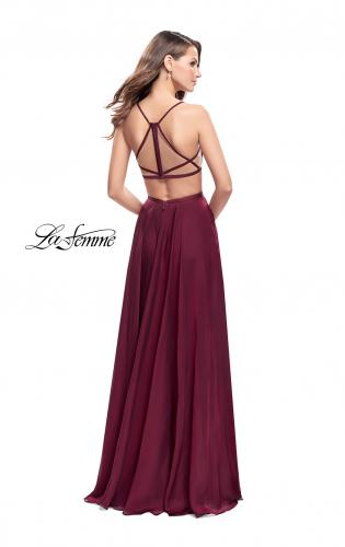 Picture of: A-Line Dress with Embroidered Lace Top and Pockets, Style: 26243, Back Picture