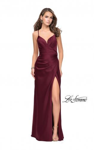 Picture of: Satin Slip Prom Dress with Strappy Back, Style: 25270, Detail Picture 2