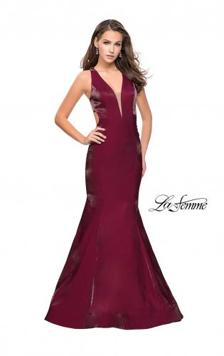 Picture of: Long Form Fitting Mermaid Prom Dress with Deep V, Style: 25494, Detail Picture 2
