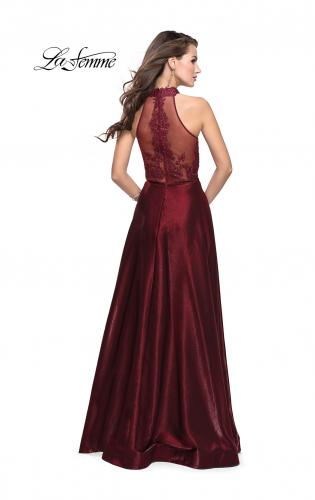 Picture of: Long Prom Dress with Satin A-line Skirt and Beading, Style: 25617, Detail Picture 2