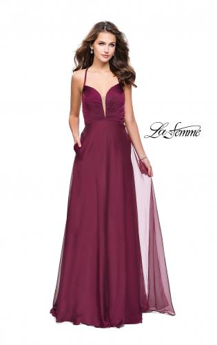 Picture of: A-line Prom Dress with Ruched Bodice and Pockets, Style: 26190, Detail Picture 2